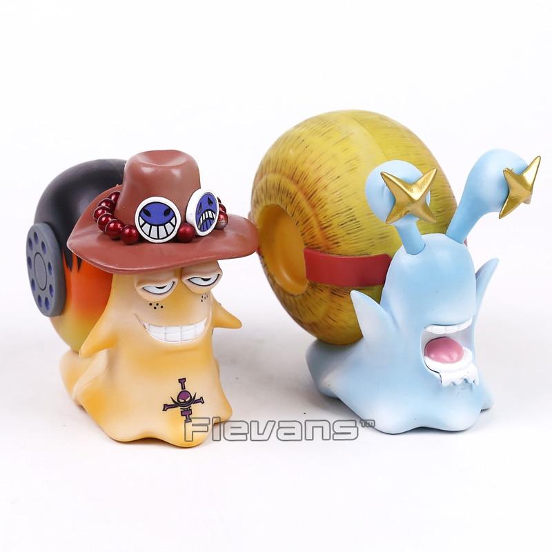 One Piece – Den Den Mushi Luffy and Ace 2pcs/set Figure (11cm) Action & Toy Figures