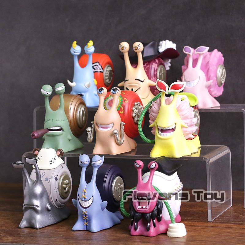 One Piece – Den Den Mushi Shichibukai 9pcs/set Figure (8cm) Action & Toy Figures