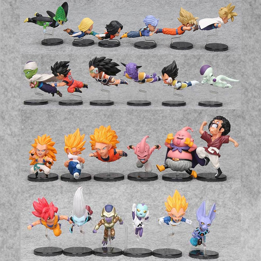 Dragon Ball – 6pcs/set Historical Characters Figures (5-9cm) Action & Toy Figures