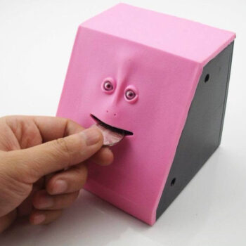 FaceBank Automatic Money Saving Box Eating Coin Dolls & Plushies Wallets