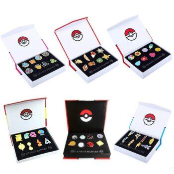 Pokemon – Gym Badges League Region Pins Action & Toy Figures