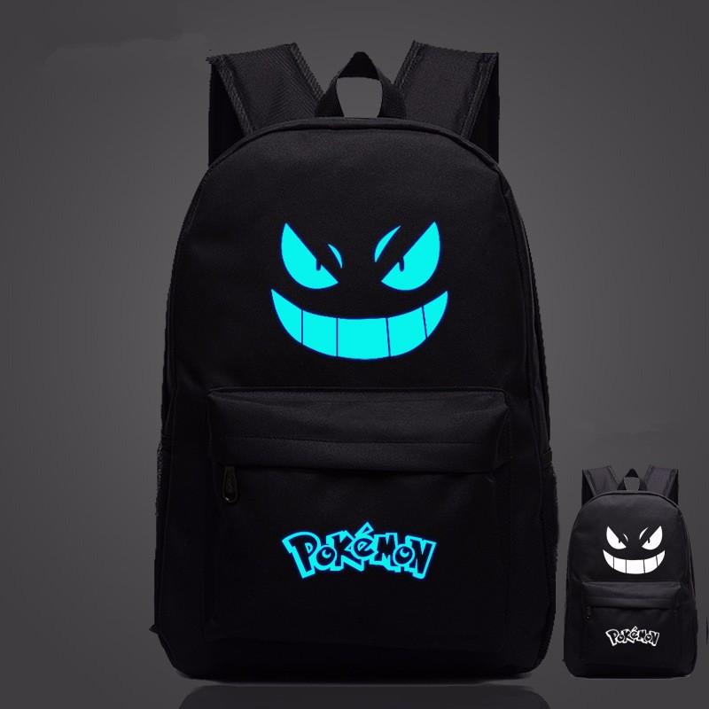 Pokemon – Gengar Glowing Backpack (16 Colors) Bags & Backpacks