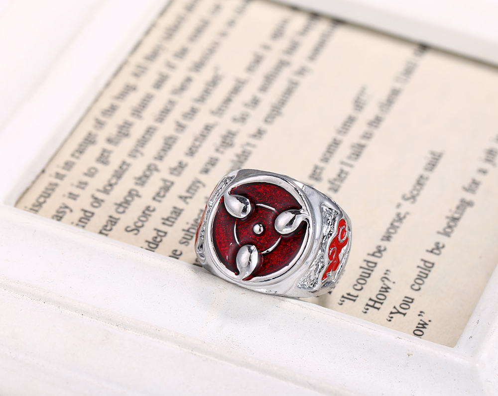 Naruto – Sharingan Uchiha Ring Rings & Earrings