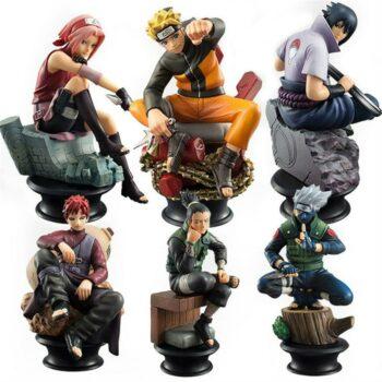 Naruto – Naruto, Sasuke, Sakura, Kakashi, Shikamaru, Gaara Sitting Ver. 6pcs/set Action Figure (9-10cm) Action & Toy Figures