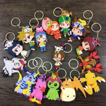 Digimon – 16 Heroes Characters Styles Keychains Pendants (8cm) Keychains Pendants & Necklaces