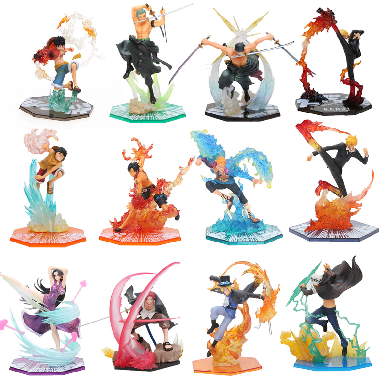One Piece – 12 Popular Pirates Battle Ver. Action Figures (17-20cm) Action & Toy Figures
