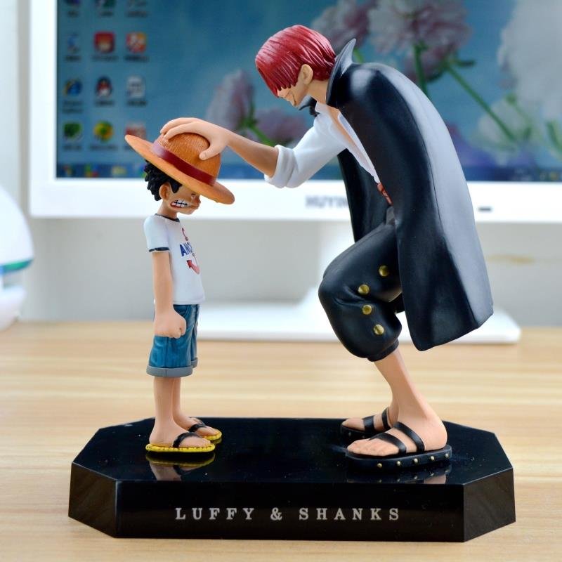 One Piece – Emotional Straw Hat Luffy and Shanks Action Figure (17cm) Action & Toy Figures
