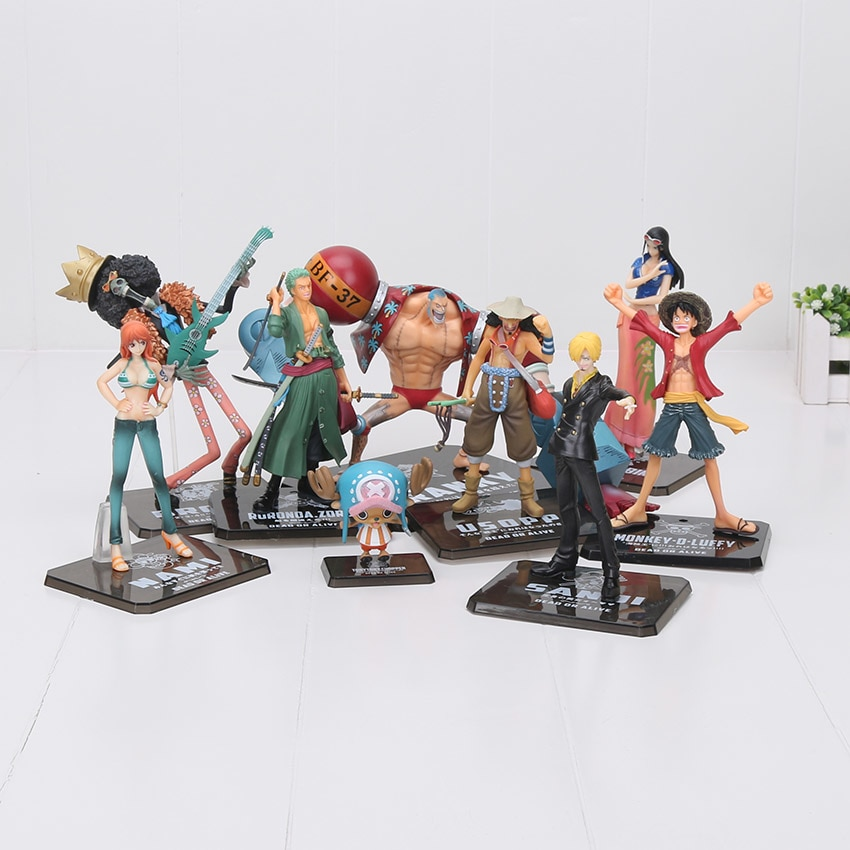 ee8cdb9a0 Buy One Piece - Straw Hat Pirates Nakama 2 Years Later Figures (9.5-19cm) -  Action & Toy Figures
