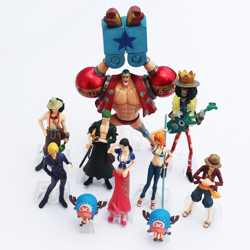 One Piece – Straw Hat Pirates Nakama 2 Years Later 10pcs/set Action Figures (4-17cm) Action & Toy Figures
