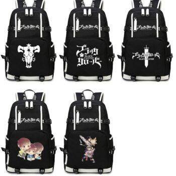 Black Clover – Printed Backpack (10 Styles) Bags & Backpacks