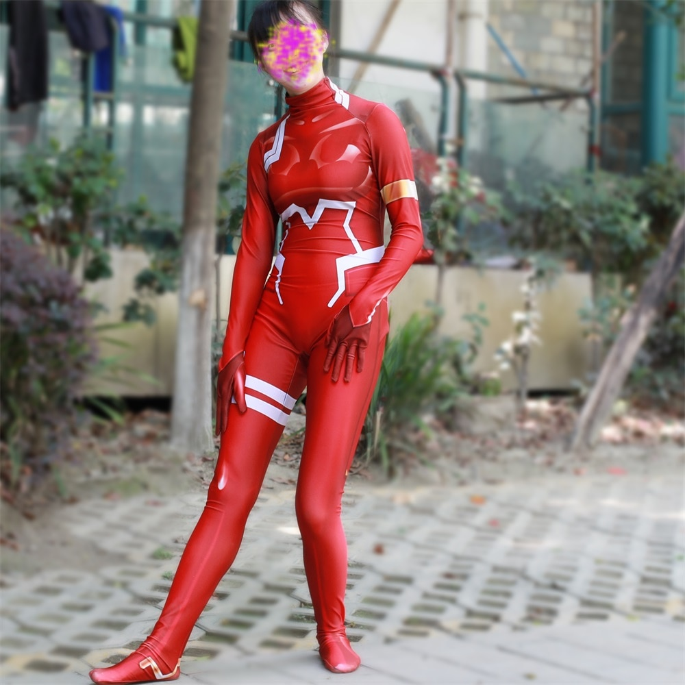 Darling in the Franxx – Zero Two Jumpsuit Cosplay Costume Cosplay & Accessories