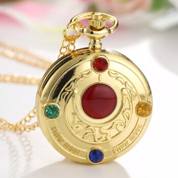 Sailor Moon – Pocket Watch With Diamond Gold Watches