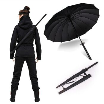 Premium Samurai Ninja Katana Semi-automatic Umbrella Cosplay & Accessories