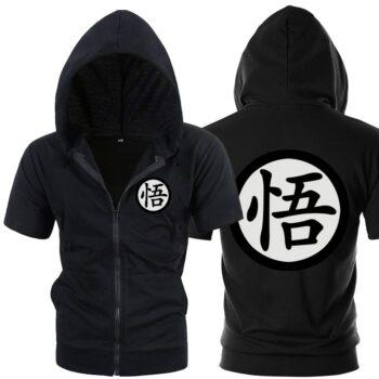 Dragon Ball, Naruto, Attack On Titan – Premium Short Sleeve Hoodie (2 Colors) Hoodies & Sweatshirts