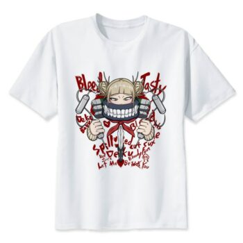 My Hero Academia – Heroes and Villains Printed White T-Shirt (20 Styles) T-Shirts & Tank Tops