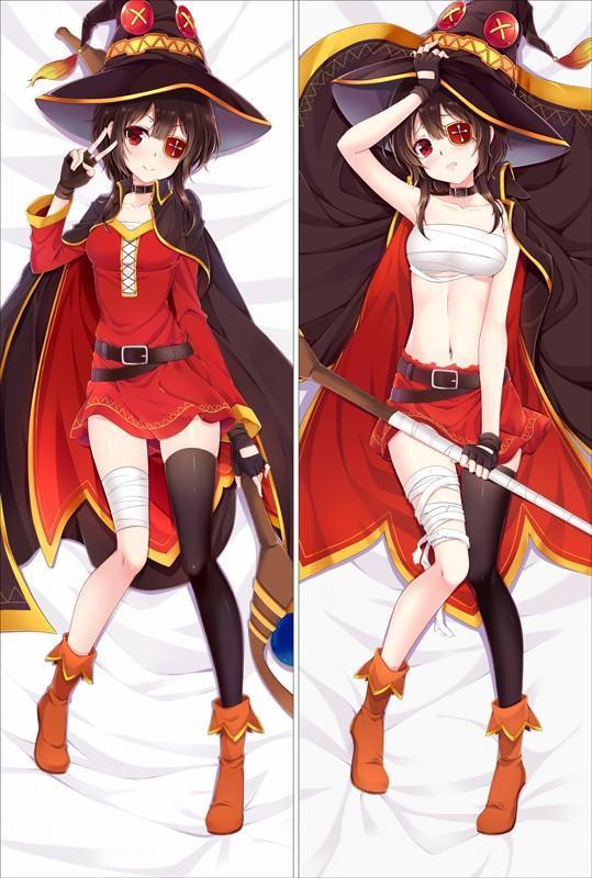 KonoSuba – Cute Megumin and Aqua Dakimakura Hugging Body Pillow Cover (6 Styles) Bed & Pillow Covers