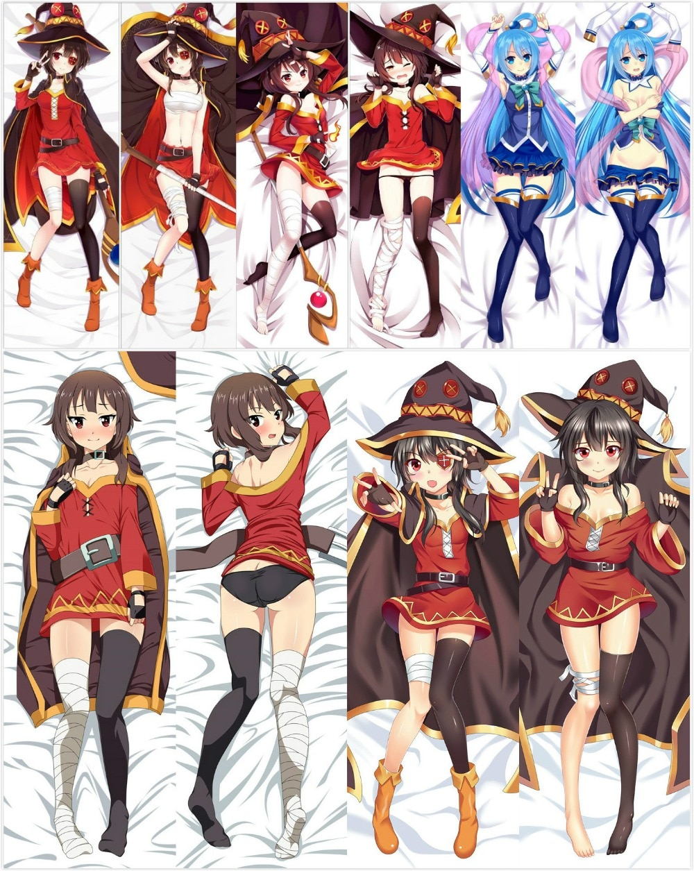 Buy Konosuba Cute Megumin And Aqua Dakimakura Hugging