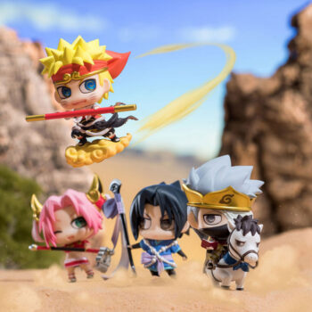 Naruto – 4pcs/set Naruto, Sasuke, Sakura and Kakashi West Ver. Figure (8cm) Action & Toy Figures