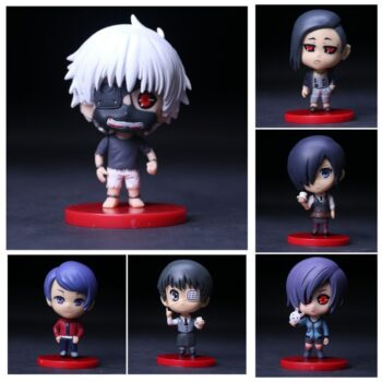 Tokyo Ghoul – 6 Chibi Characters Action Figures (10cm) Action & Toy Figures