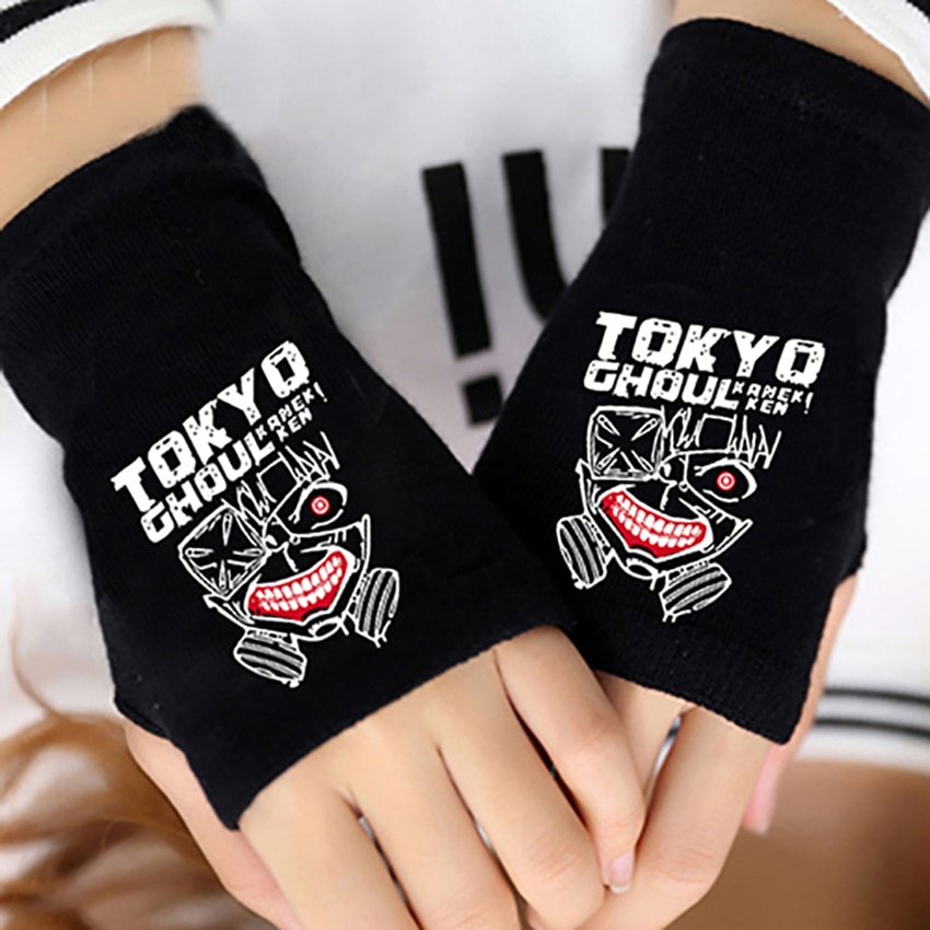 Tokyo Ghoul – Knitted Half Finger Glove (3 Styles) Cosplay & Accessories