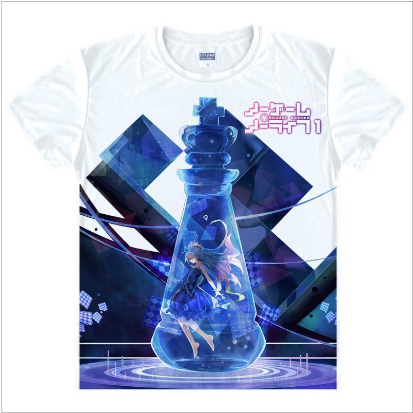 No Game No Life – White 3D Printed T-Shirt (30 Styles) T-Shirts & Tank Tops