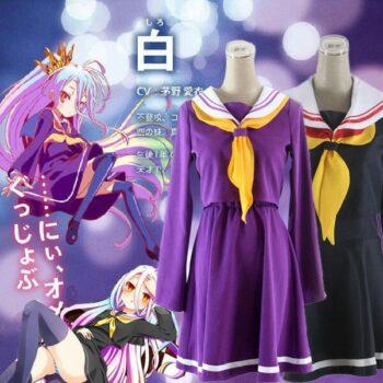 No Game No Life – Shiro School Uniform Cosplay Costume (2 Colors) Cosplay & Accessories