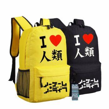 No Game No Life – Sora I Love Humanity Canvas Backpack (2 Colors) Bags & Backpacks