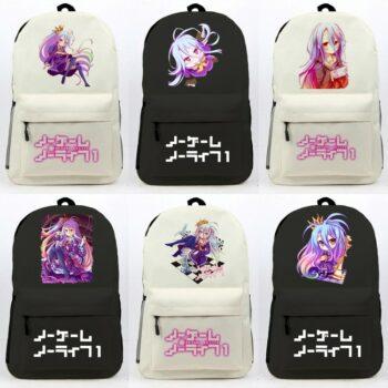 No Game No Life – Shiro Canvas Backpack (13 Styles) Bags & Backpacks