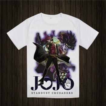 JoJo's Bizarre Adventure – White Printed T-Shirt (20 Styles) T-Shirts & Tank Tops