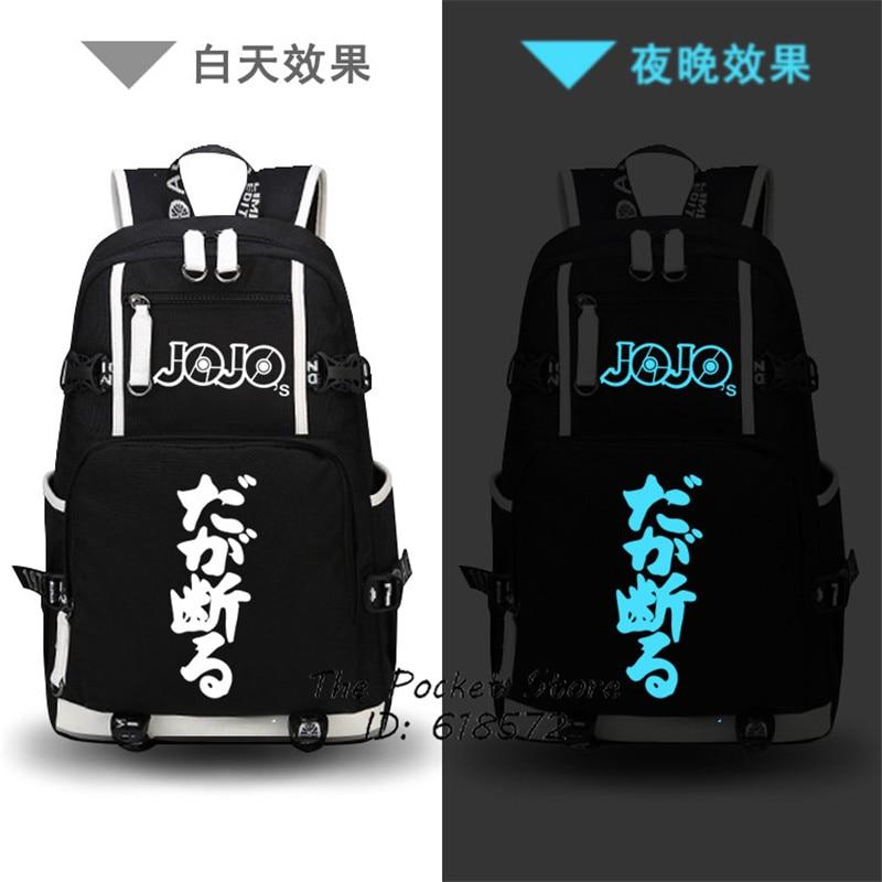 JoJo's Bizarre Adventure – Luminous Backpack (6 Styles) Bags & Backpacks