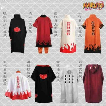 Naruto – Cloak Cosplay Costume (7 Styles) Cosplay & Accessories