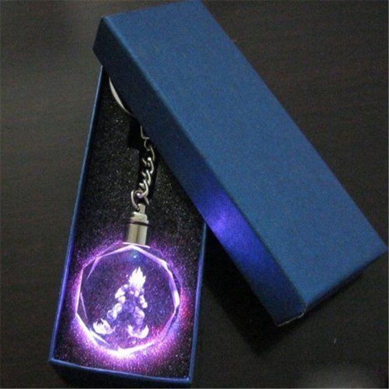 Dragon Ball – Son Goku Super Saiyan Led Light Crystal Keychain Pendant Keychains