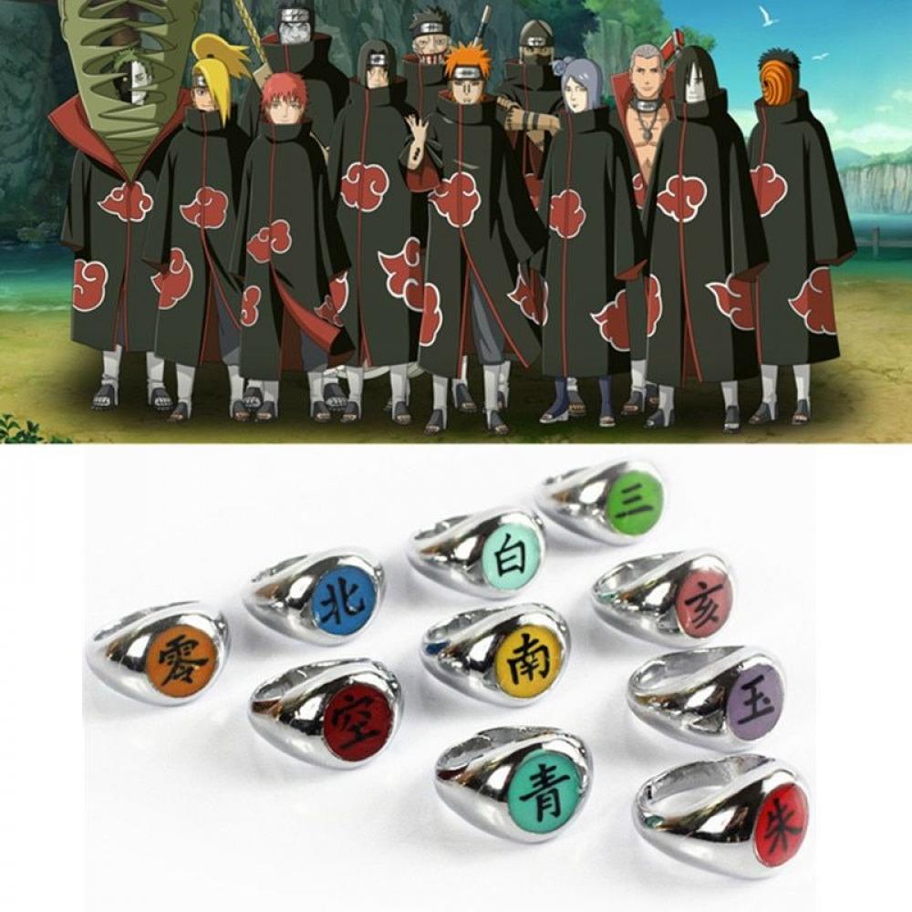 Buy Naruto Akatsuki Member S Rings 10 Styles Rings Earrings