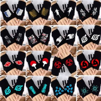 5 Anime Knitted Half Finger Glove (20 Styles) Cosplay & Accessories