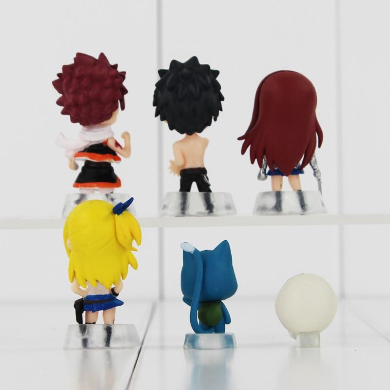 Fairy Tail – Chibi Team Natsu 6pcs/set Figure and Keychain Pendant Keychains Pendants & Necklaces