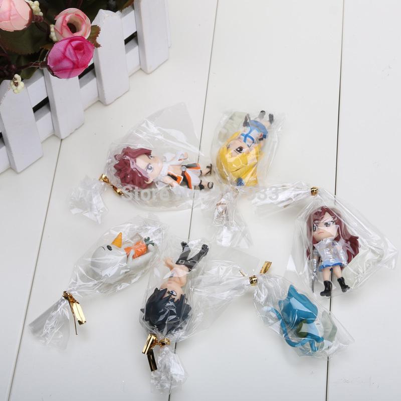 Fairy Tail – Chibi Team Natsu 6pcs/set Figure (6cm) Action & Toy Figures