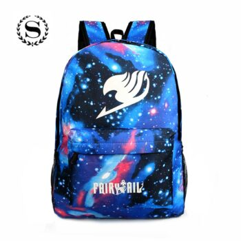 Fairy Tail and One Piece – Glowing Backpack (5 Colors) Bags & Backpacks