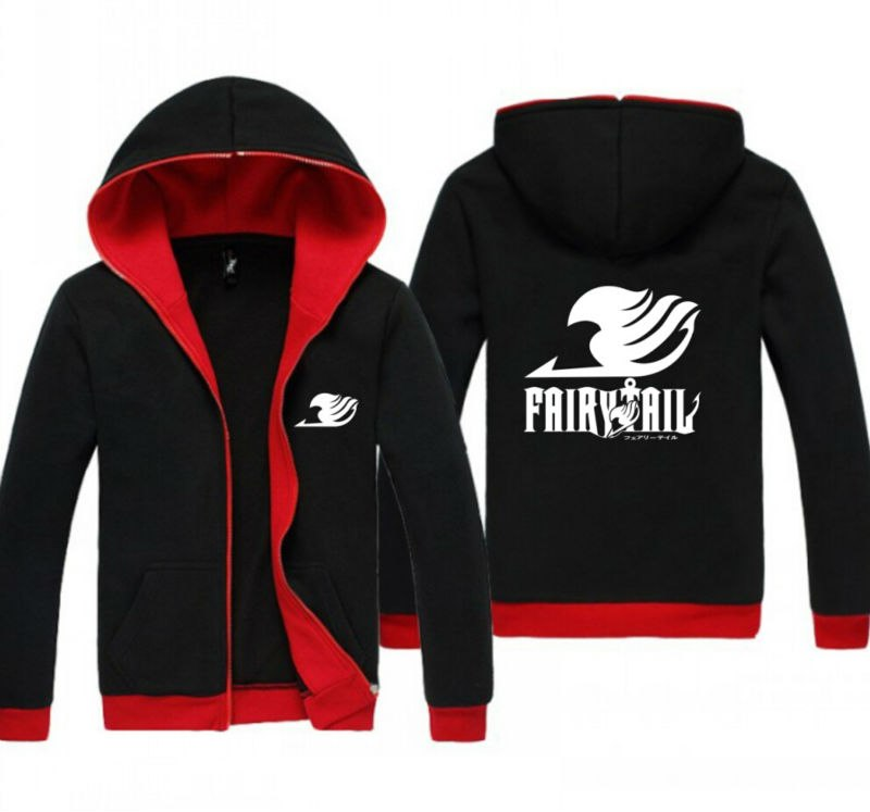 Fairy Tail – Red and Black Jacket Hoodie (2 Styles) Hoodies & Sweatshirts Jackets & Coats