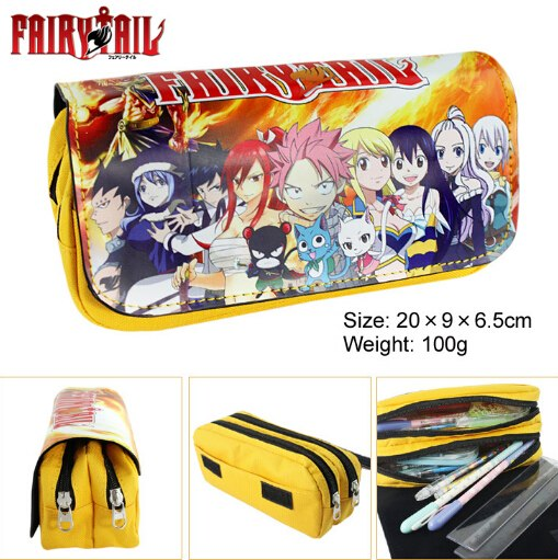 Fairy Tail – Printed Double Zipper Pencil Case (2 Styles) Pencil Cases