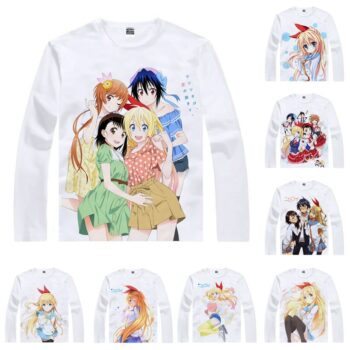 Nisekoi – Cute White Printed Sweatshirt (20 Styles) Hoodies & Sweatshirts