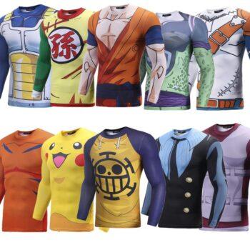 6 Anime 3D Printed Slim Long Sleeve Shirt (20 Styles) Hoodies & Sweatshirts T-Shirts & Tank Tops