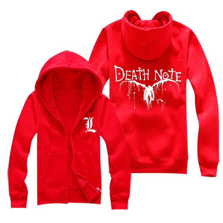 Death Note – Printed Jacket Hoodie (4 Colors) Hoodies & Sweatshirts Jackets & Coats