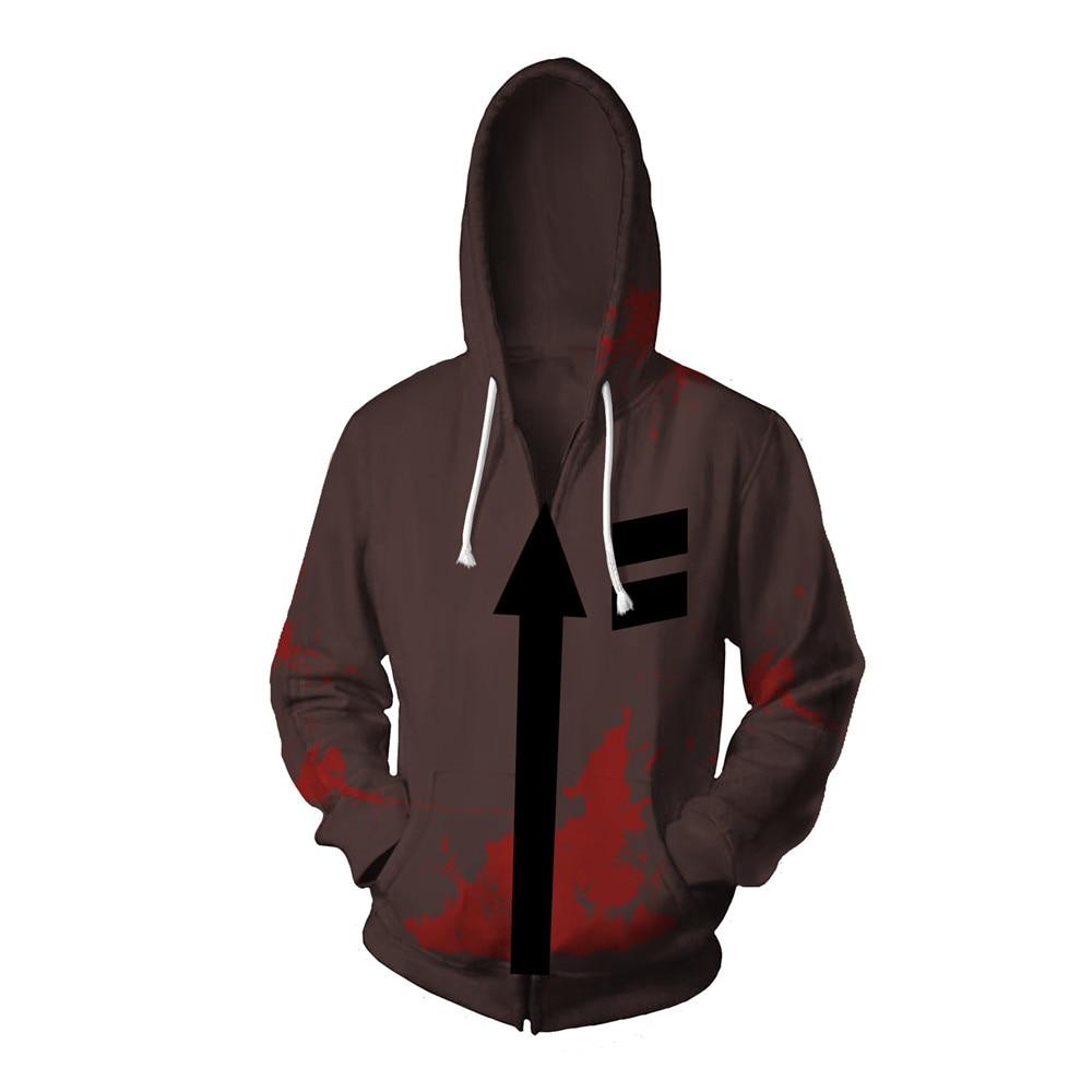 Latest Angels of Death Isaac·Foster Zack Hoodies Coat Sweatshirt Cosplay Costume