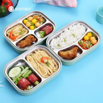 Bento Stainless Steel Lunch Box (2-4 Compartments) Lunch Boxes