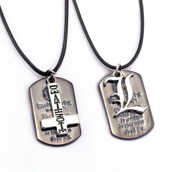 Death Note – Dog Tag Pendant Necklace (2 Styles) Pendants & Necklaces
