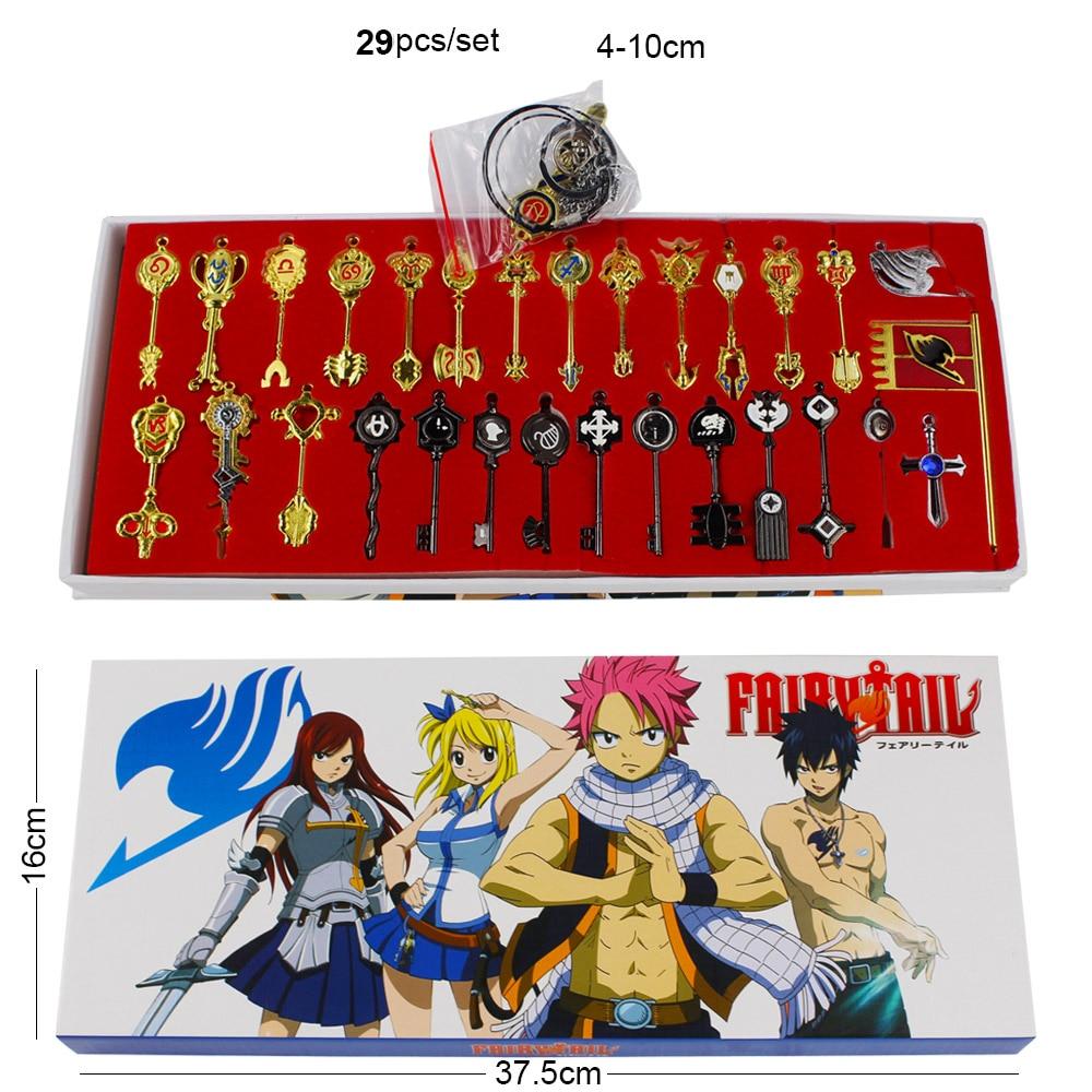 Fairy Tail – Lucy Celestial Spirit Keys Keychain Pendant (18-29pcs/set) Keychains Pendants & Necklaces