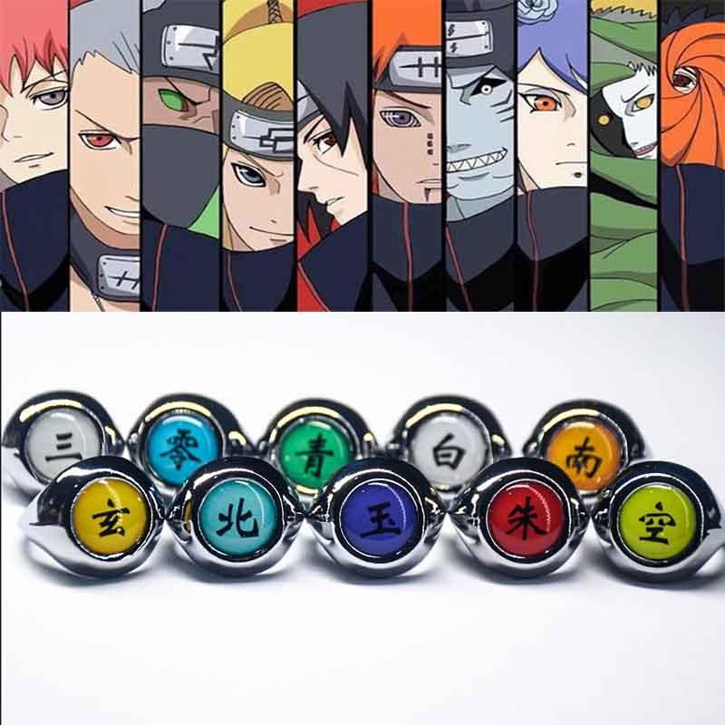 Naruto – Akatsuki Member's & Sharingan Rings (17 Styles) Rings & Earrings