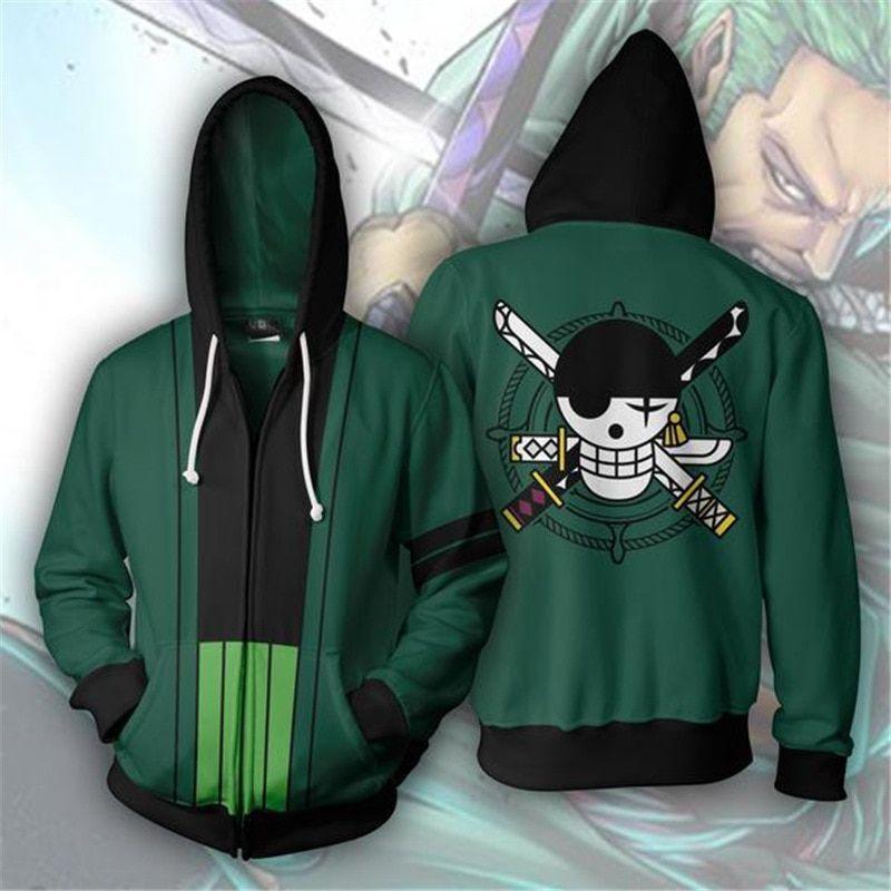 Buy One Piece - Roronoa Zoro Jacket Hoodie - Hoodies ...