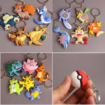 Pokemon – 3D Keychain Pendant (16 Pokemon) Keychains Pendants & Necklaces