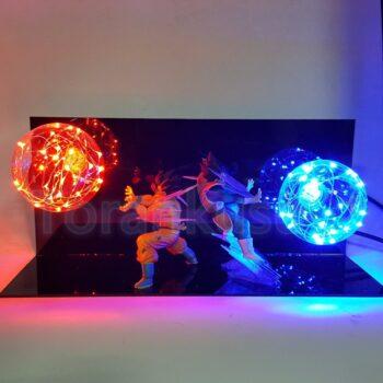 Dragon Ball – Son Goku vs Vegeta Flash Ball 3D Illusion Led Desk Lamp Lamps